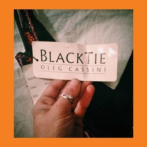 Black tie Dress Oleg cassini